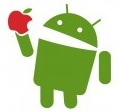 A picture named android-eat-apple-decal.jpg